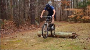 How To Jump A Log With A Mountain Bike